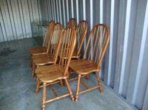 Set of 6 Solid Wood Dining Table Chairs